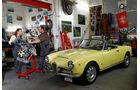 Alfa Romeo Giulia Spider, Seitenansicht, Motor