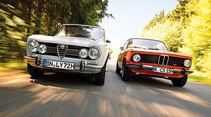 Alfa Romeo Giulia Super 1.3, BMW 1602, Frontansicht