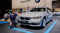 Alfa Romeo Giulia gegen BMW 3er Limousine, Kaltvergleich, Vergleich, Genf, 03/2016