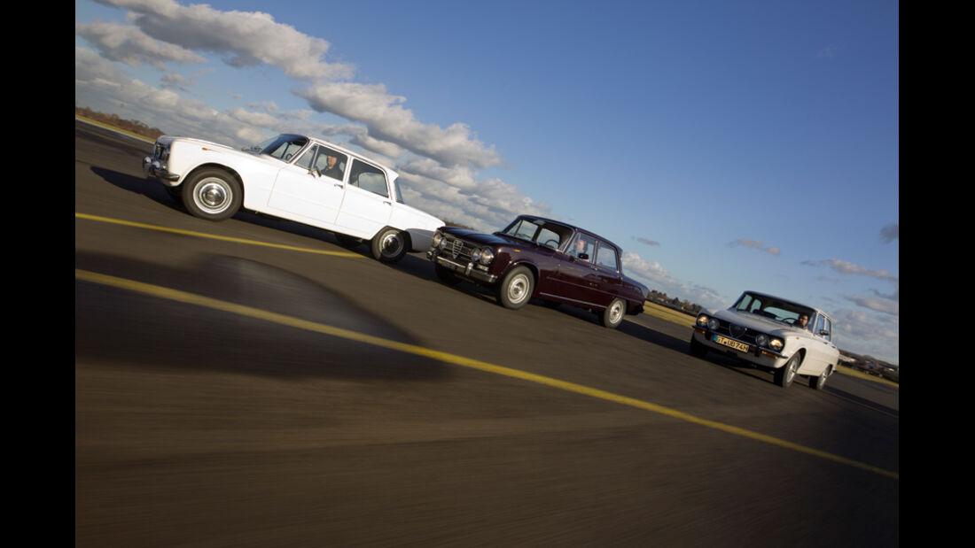 Alfa Romeo Giulia, verschiedene Modelle, Seitenansicht