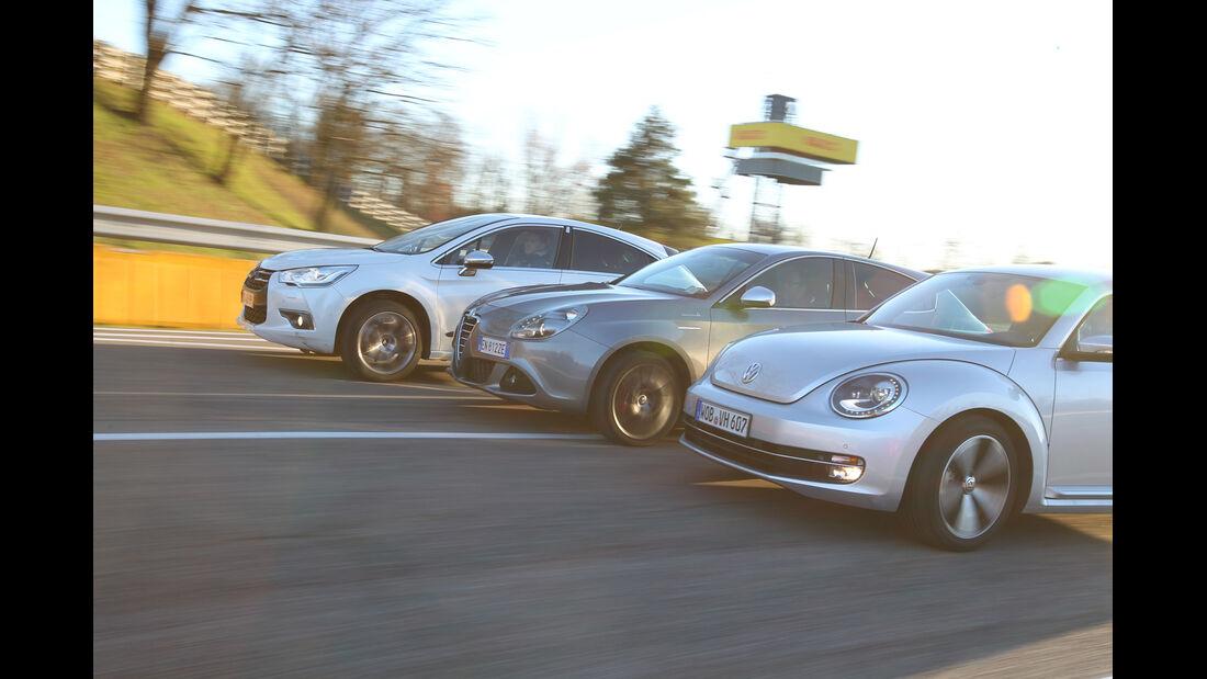 Alfa Romeo Giulietta, Citroën DS4, VW Beetle,