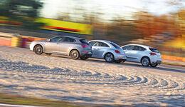 Alfa Romeo Giulietta, Citroën DS4, VW Beetle, Seitenansicht