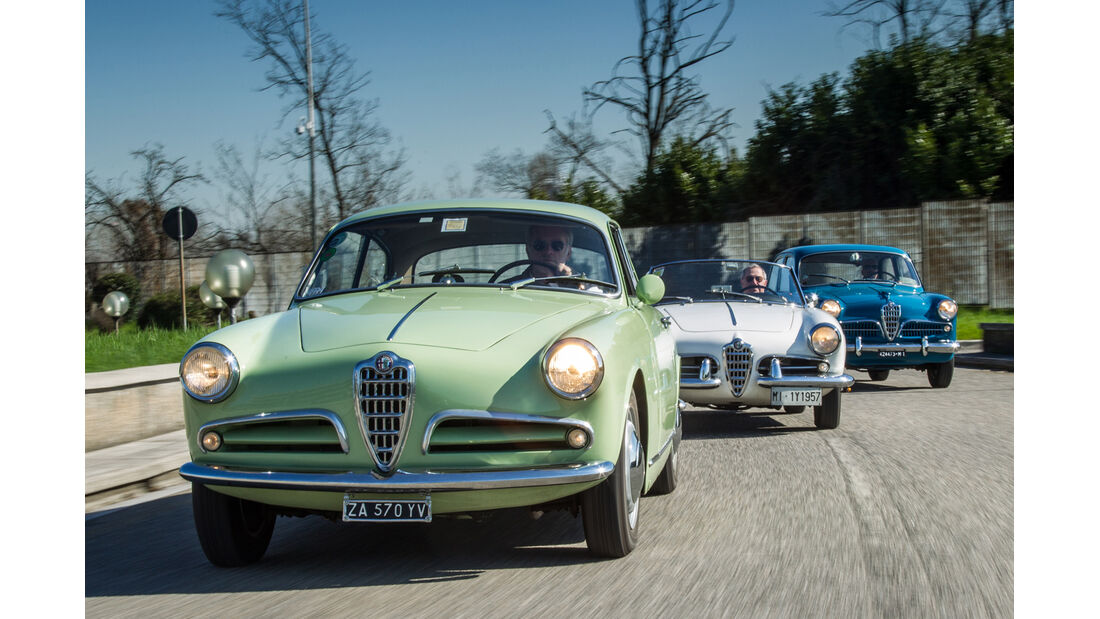 Alfa Romeo Giulietta, Frontansicht, Modelle