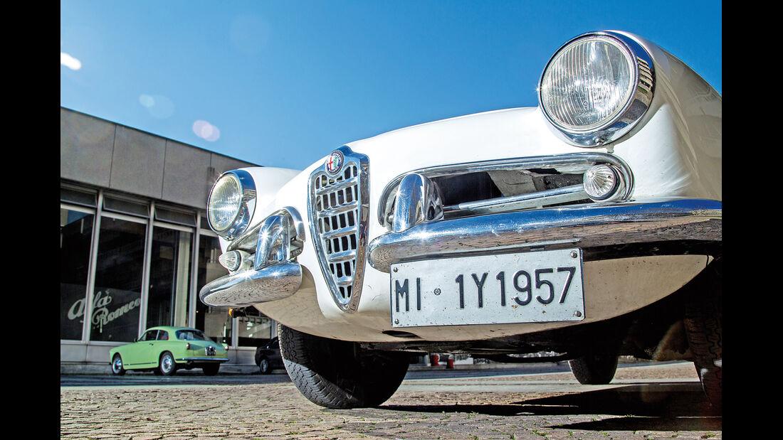 Alfa Romeo Giulietta Spider, Frontscheinwerfer
