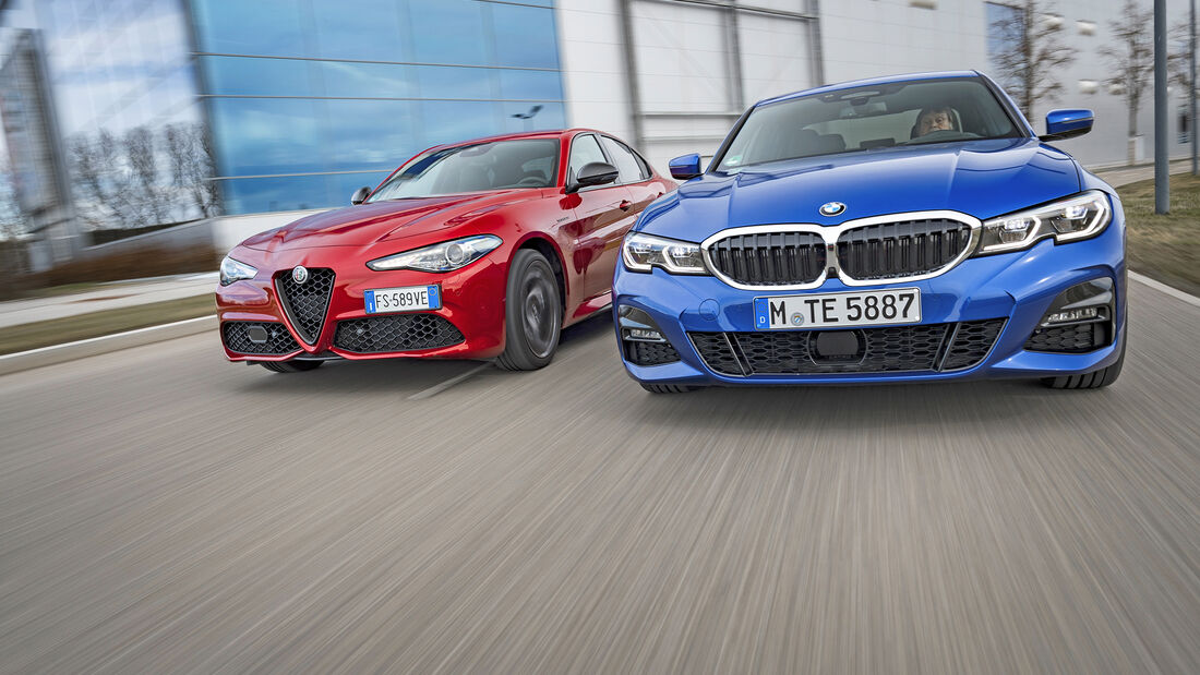 Alfa Romeo Gulia Veloce Ti, BMW 330i, Exterieur