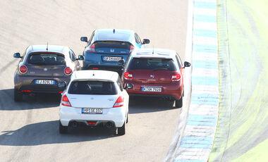 Alfa Romeo Mito 1.4 TB 16V Super, Citroën DS3 THP 155 Sport Chic, Honda CR-Z Sport, Suzuki Swift 1.6 Sport, Heck