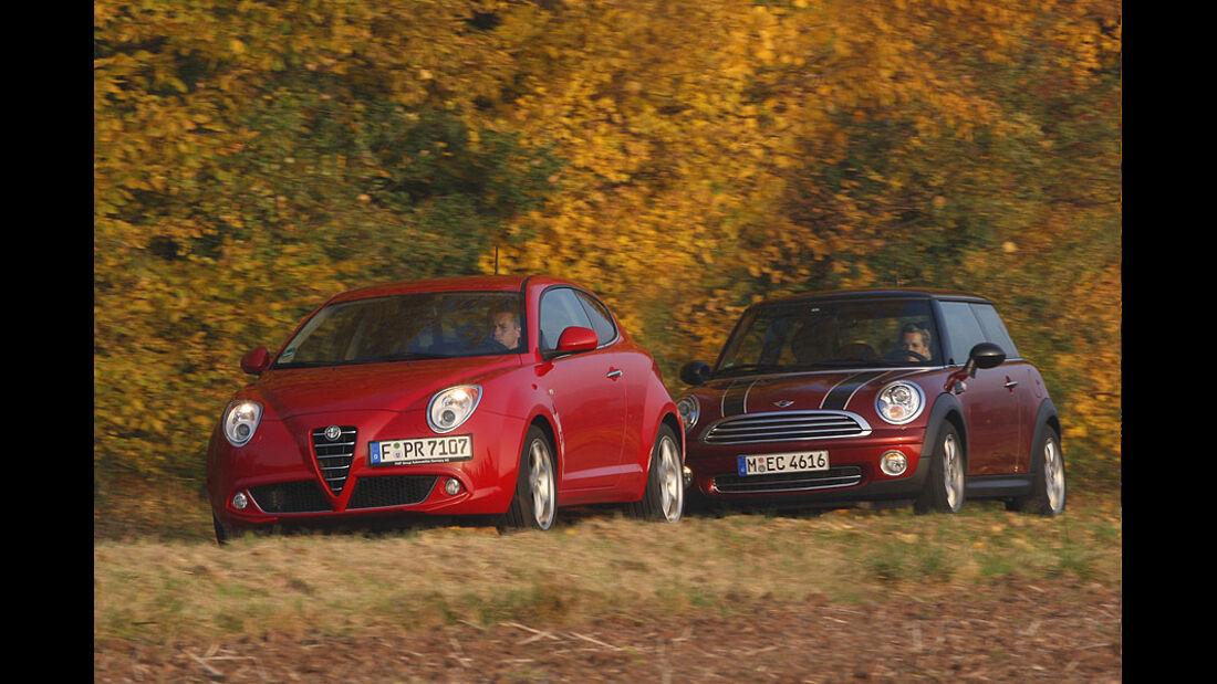 Alfa Romeo Mito, Mini Cooper