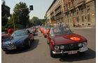 Alfa Romeo Oldtimer beim Corso in mailand