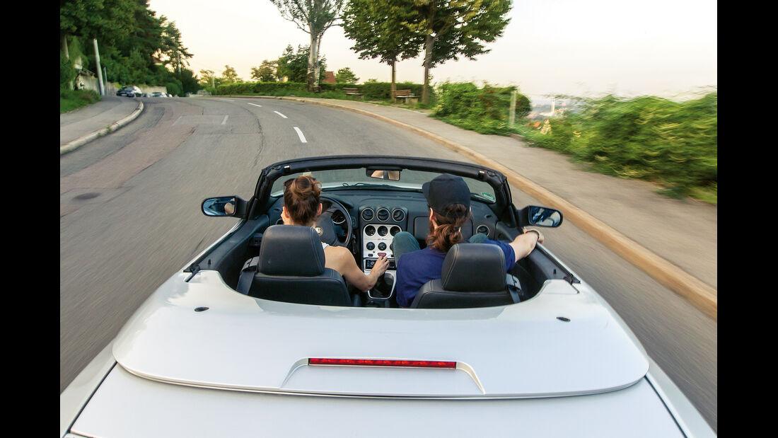 Alfa Romeo Spider 2.0 TS, Fahrersicht