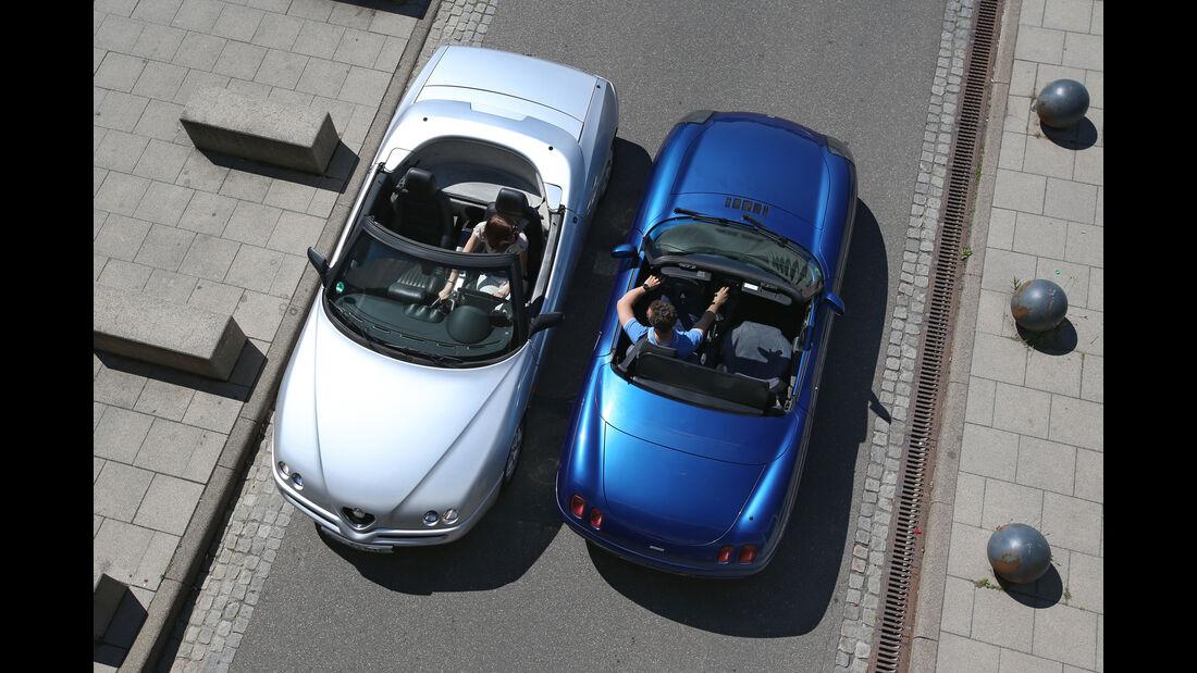 Alfa Romeo Spider 2.0 TS, Fiat Barchetta, Draufsicht