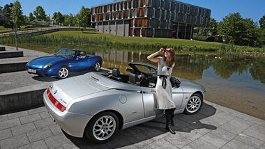 Alfa Romeo Spider 2.0 TS, Fiat Barchetta, Heckansicht