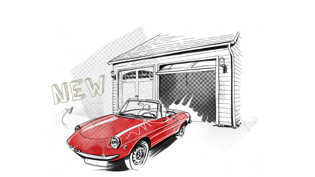 Alfa Romeo Spider, Garage