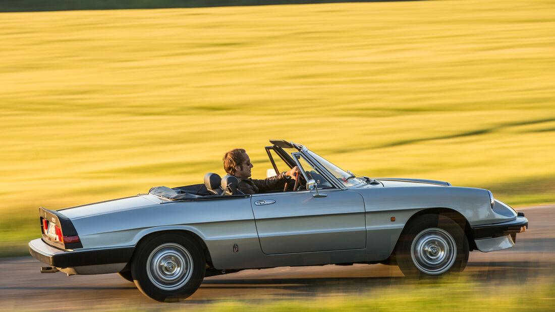 Alfa Romeo Spider, Impression, Schwäbische Alb