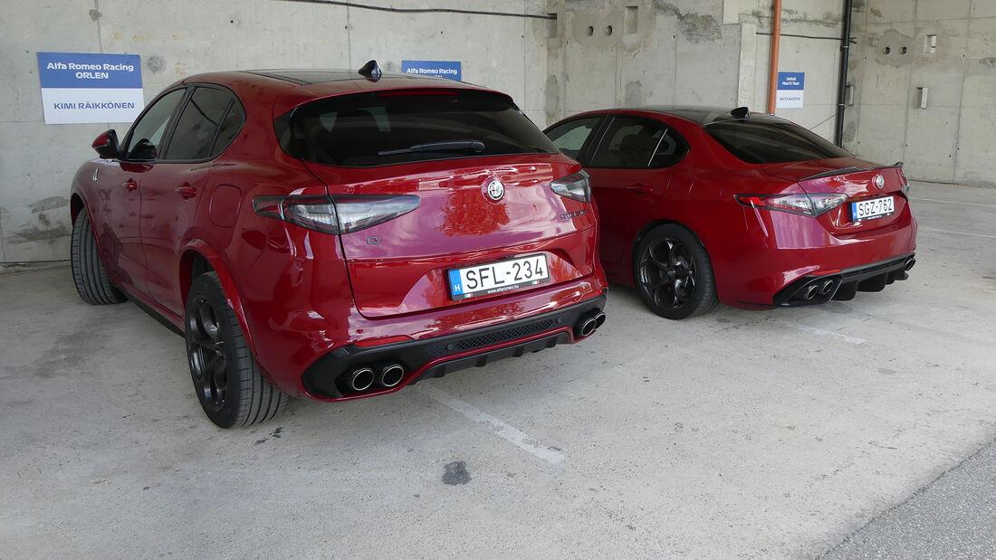 Alfa Romeo Stelvio - Alfa Romeo Giulia Quadrifoglio - Kimi Räikkönen - Antonio Giovinazzi -  Formel 1 - Fahrerautos - GP Ungarn 2021
