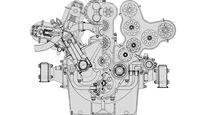 Alfa Romeo Tipo 316 Skizze Motor