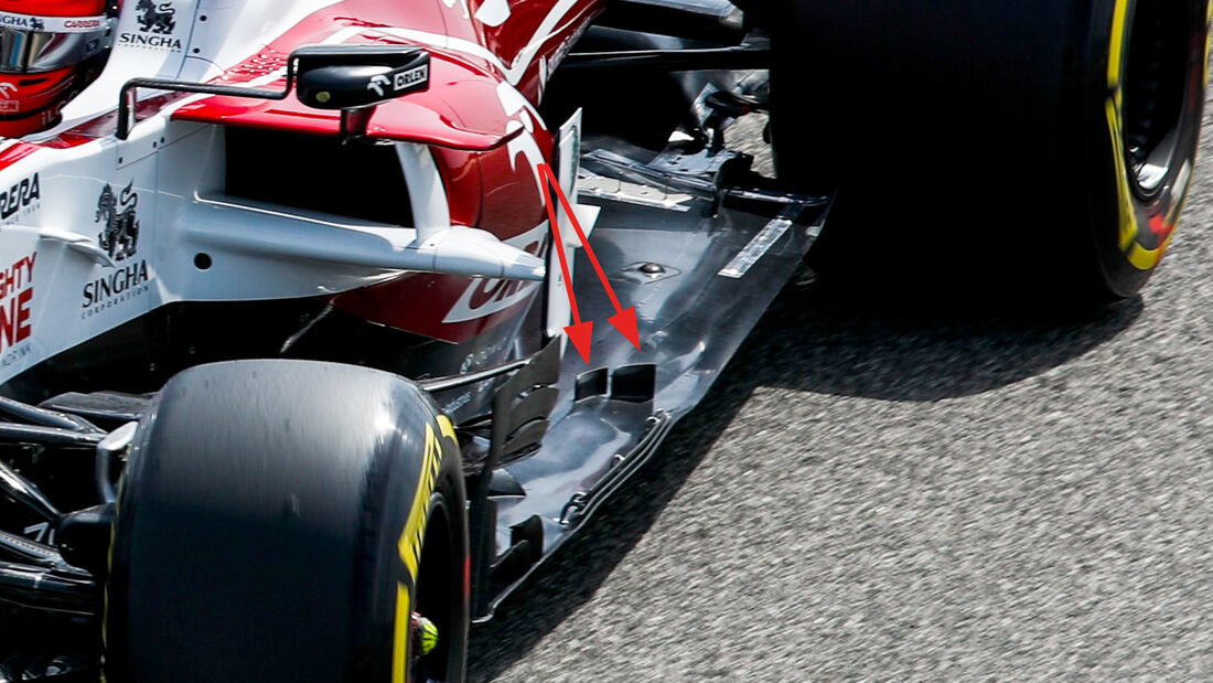 Alfa Romeo - Unterboden - F1-Test - Bahrain - 2021
