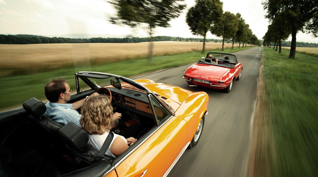 Alfa Spider 1750 Veloce, Fiat 124 Sport Spider, Fahrersicht