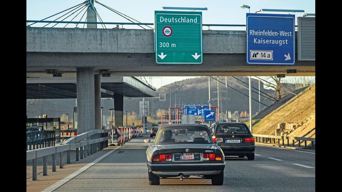 Alfa Spider 2.0., Heckansicht, Autobahn