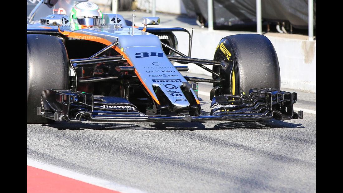 Alfonso Celis - Force India - Formel 1 - Test - Barcelona - 1. März 2017
