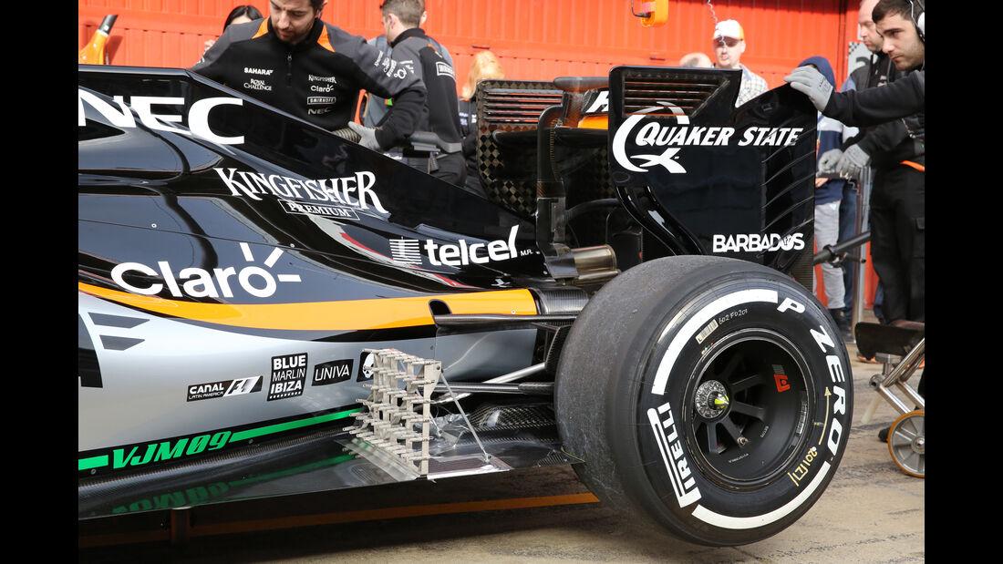 Alfonso Celis - Force India - Formel 1-Test - Barcelona - 22. Februar 2016