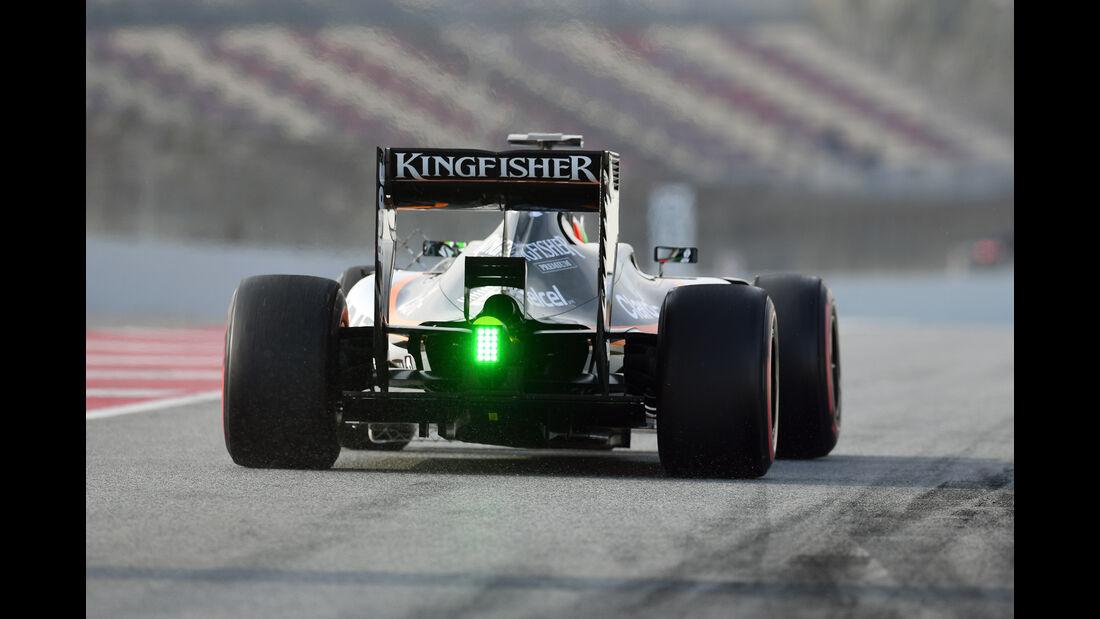 Alfonso Celis - Force India - Formel 1-Test - Barcelona - 25. Februar 2016