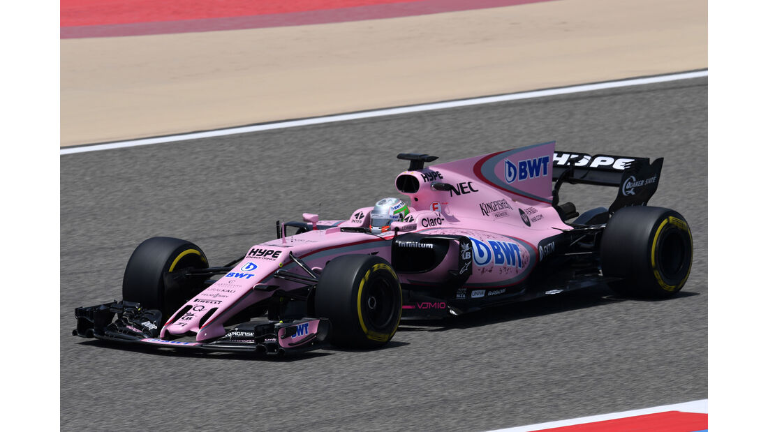 Alfonso Celis - Force India - Formel 1 - Testfahrten - Bahrain International Circuit - Dienstag - 18.4.2017