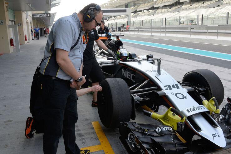 Alfonso Celis Jr - Force India - F1 Test - Abu Dhabi - Dienstag - 1.12.2015