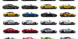 Alle Porsche 911 Modelle