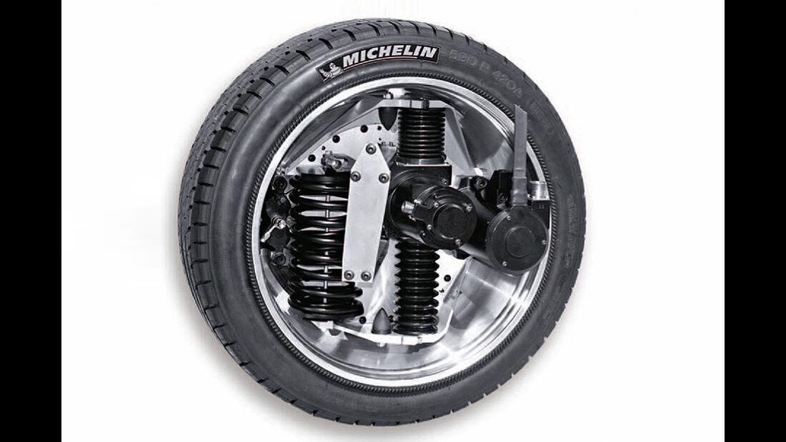 Allradantrieb, Michelin Active Wheel, Radnabenmotor