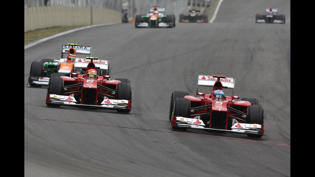 Alons Massa Ferrari GP Brasilien 2012