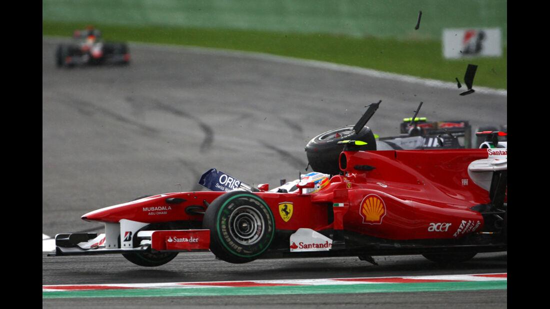 Alonso Barrichello GP Belgien