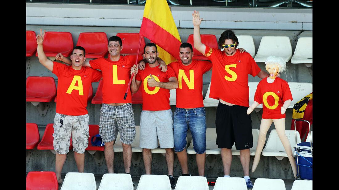Alonso-Fans - Formel 1 - GP Spanien - Barcelona - 9. Mai 2014
