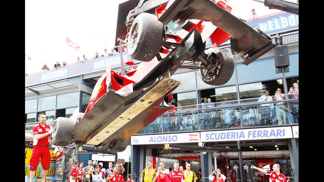 Alonso GP Australien F1 Crashs 2012