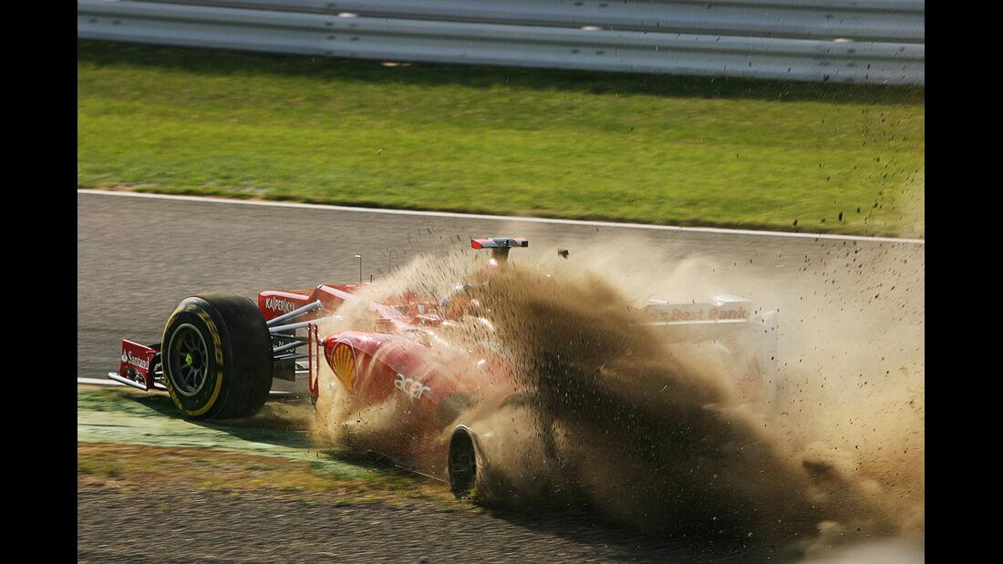 Alonso GP Japan F1 Crashs 2012