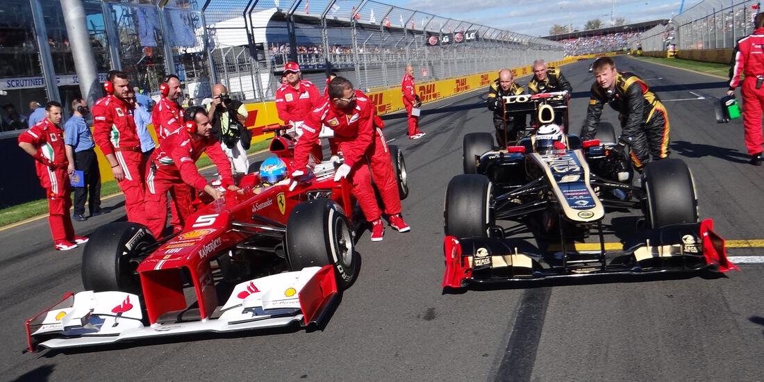 Alonso Grosjean GP Australien 2012