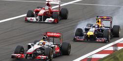 Alonso Hamilton & Webber - GP Deutschland 2011