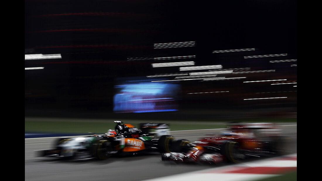 Alonso & Hülkenberg - Formel 1 - GP Bahrain - Sakhir - 4. April 2014
