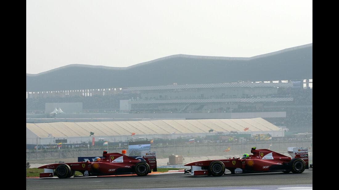 Alonso & Massa GP Indien 2011