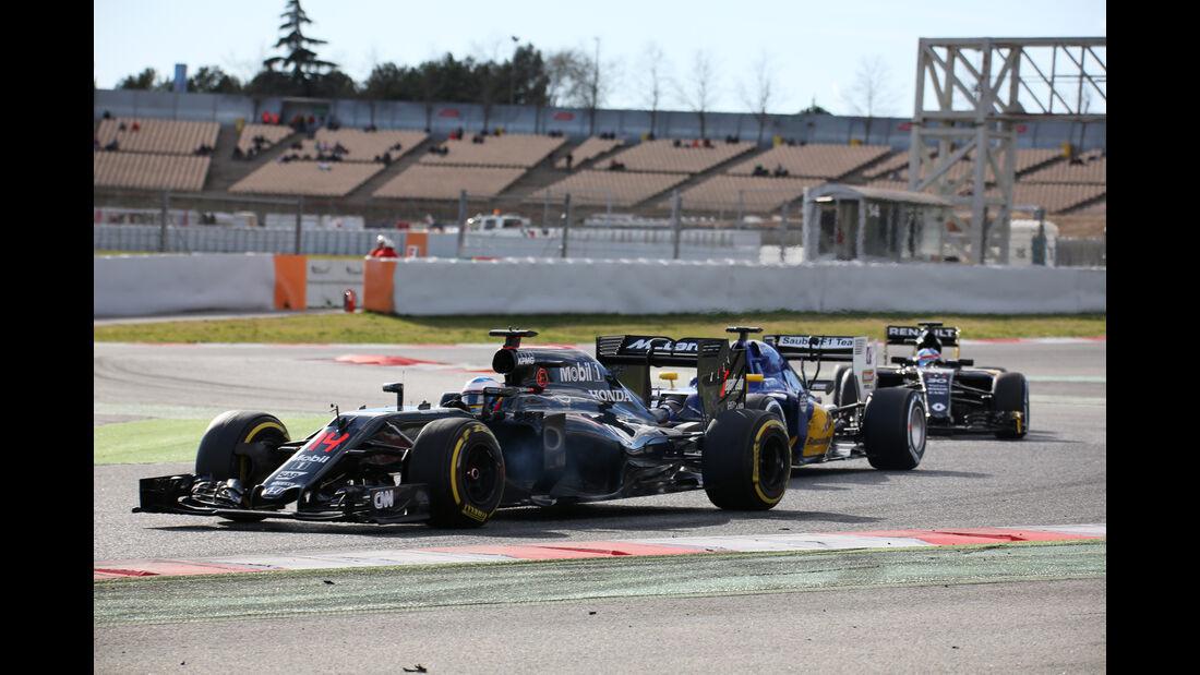 Alonso, Nasr & Palmer - McLaren, Sauber & Renault - Formel 1-Test - Barcelona - 3. März 2016