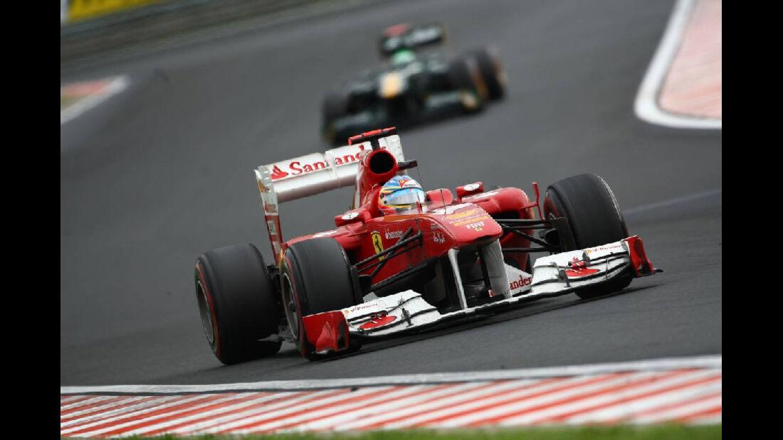Alonso - Noten - GP Ungarn - Formel 1 - 31.7.2011