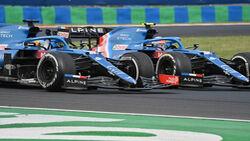 Alonso - Ocon - Alpine - GP Ungarn 2021 - Budapest - Rennen