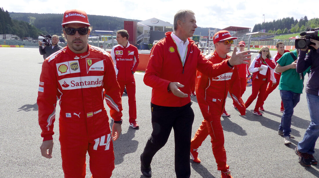 Alonso & Räikkönen - Ferrari - Formel 1 - GP Belgien - Spa-Francorchamps - 21. August 2014