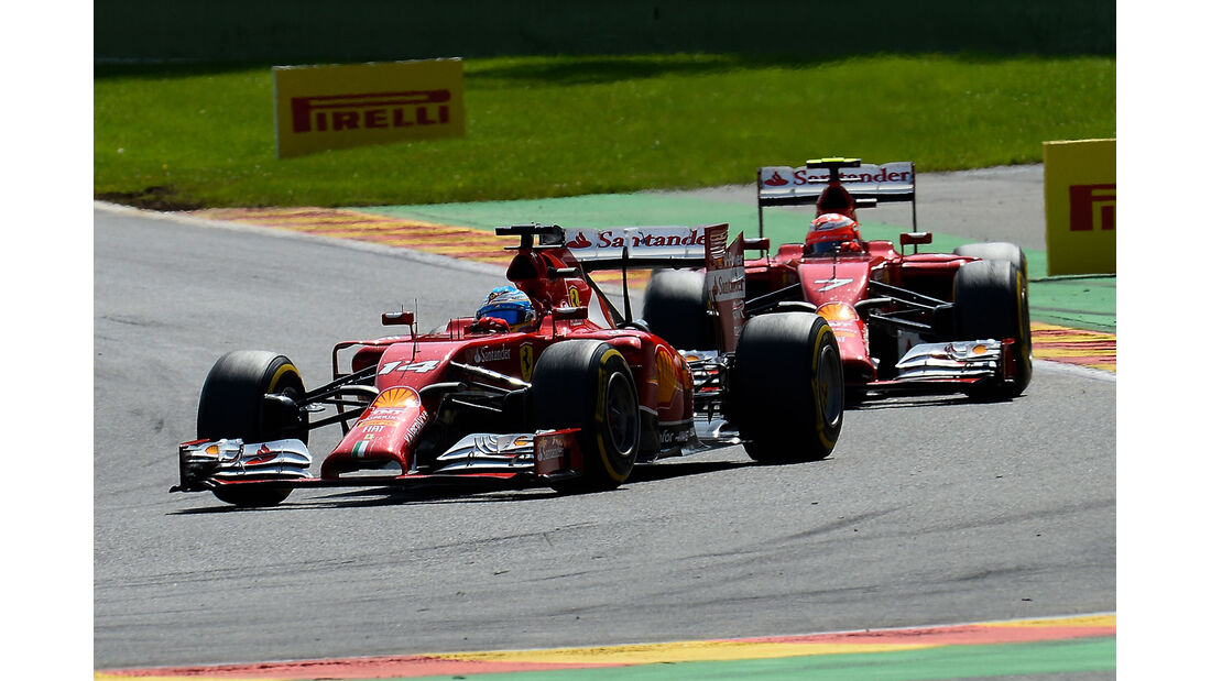 Alonso & Räikkönen - Ferrari - GP Belgien 2014