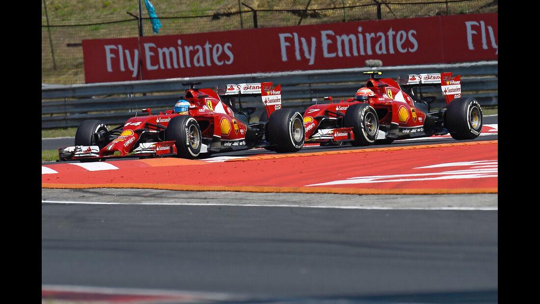 Alonso & Räikkönen - GP Ungarn 2014