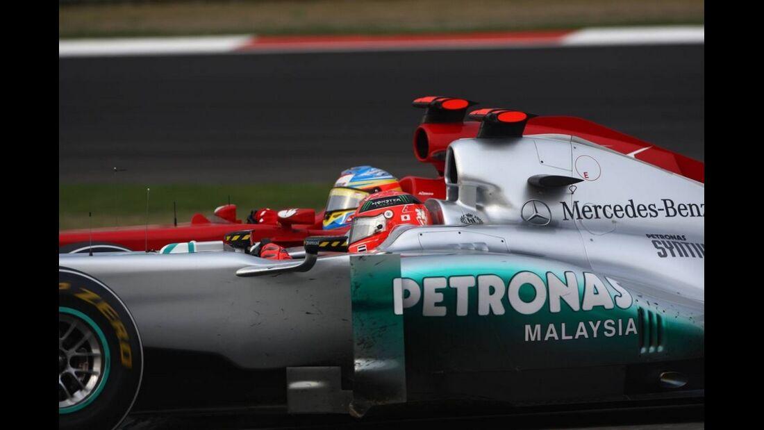 Alonso Schumacher Formel 1 GP China 2011