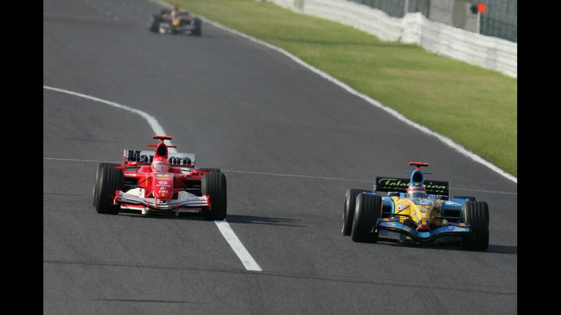 Alonso Schumacher GP Japan 2005