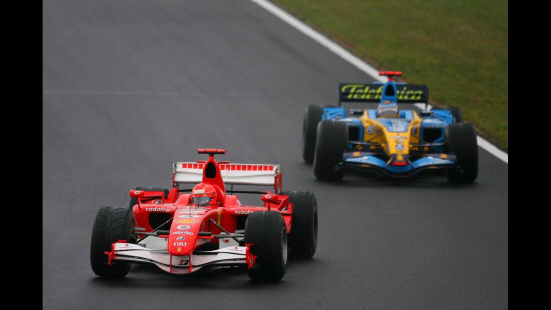 Alonso Schumacher GP Ungarn 2006