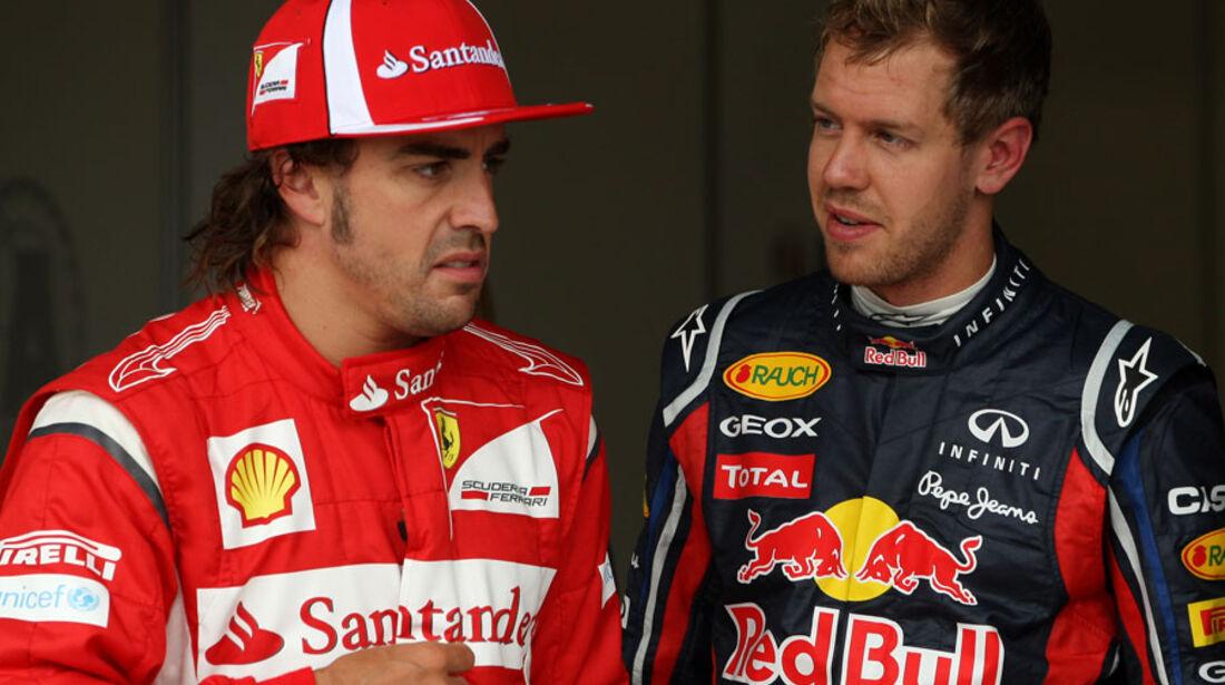 Alonso & Vettel - GP England - Qualifying - 9. Juli 2011