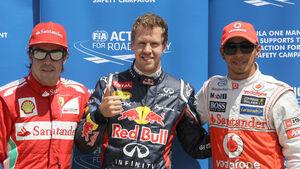 Alonso, Vettel & Hamilton GP Indien 2012