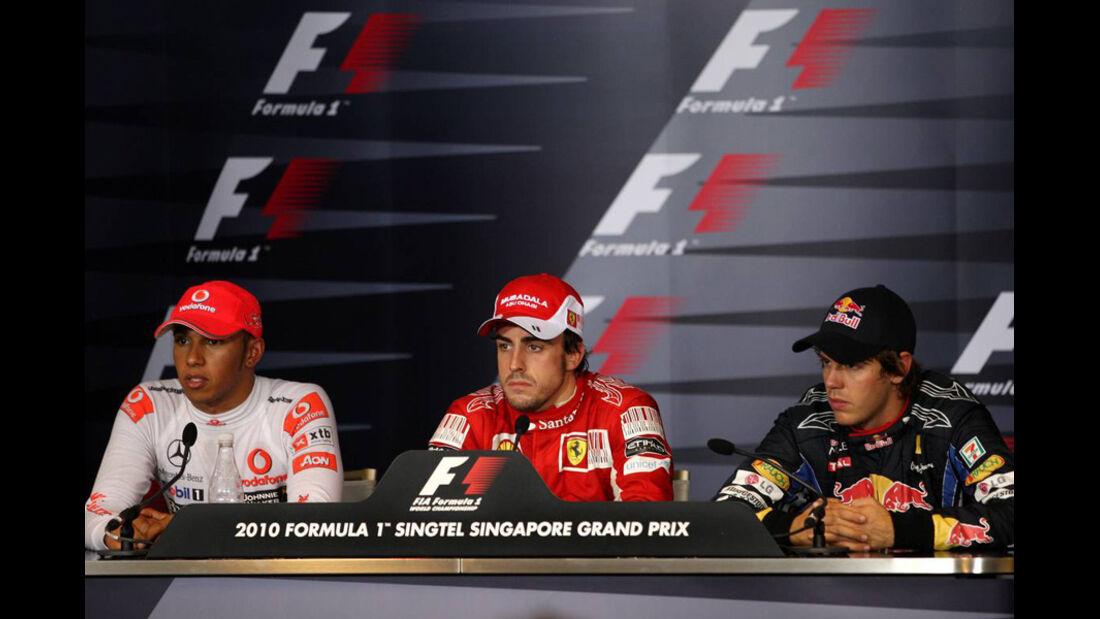 Alonso Vettel und Hamilton